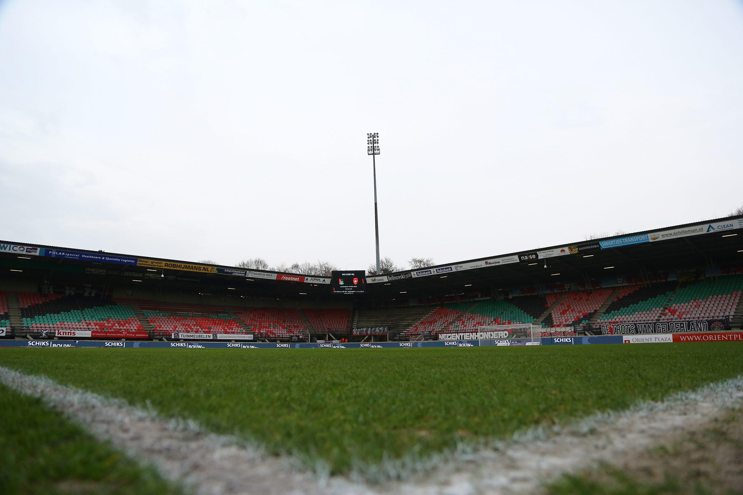 NEC definitief in lege Goffert tegen FC Groningen en SC Heerenveen
