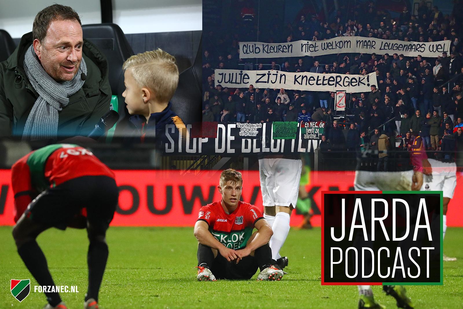 Jarda Podcast #28: Een schip met geld en het bizarre spandoek-statement van NEC