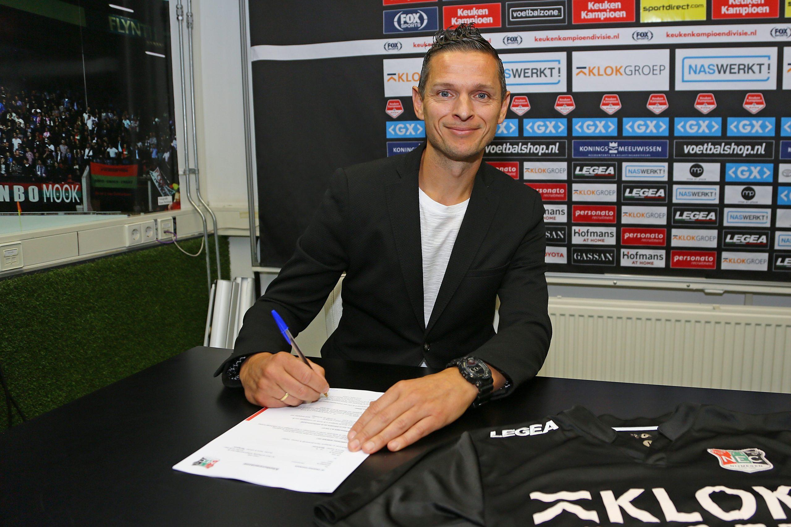 Rogier Meijer ook volgend seizoen hoofdtrainer NEC