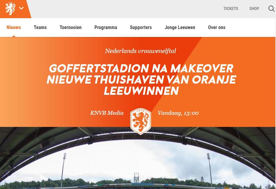 NEC gaat Goffertstadion delen met Oranje Leeuwinnen