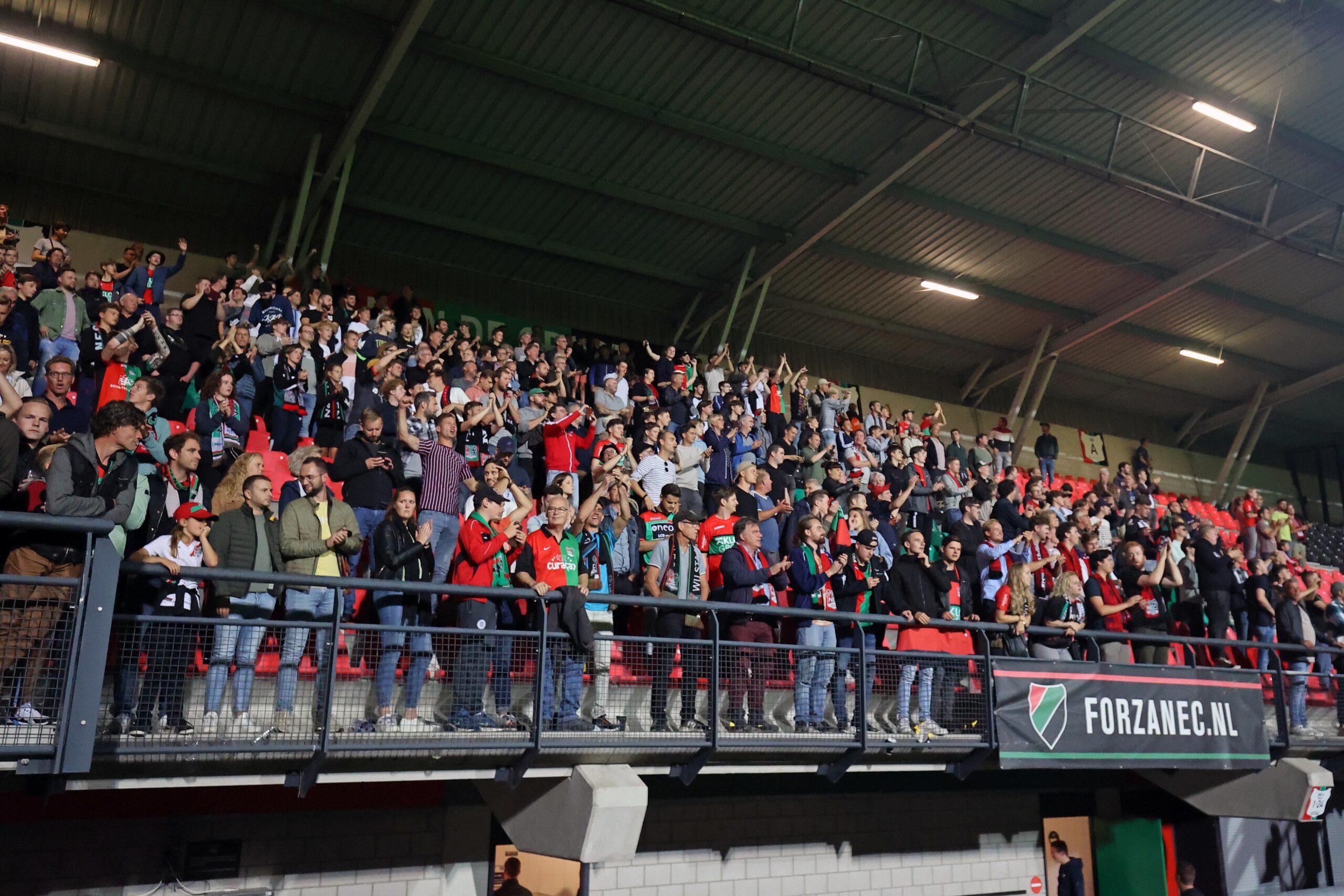 'NEC-Vitesse eerste thuiswedstrijd in bomvolle Goffert in jaren'