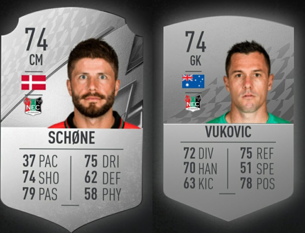 NEC is again in FIFA;  Schöne and Vukovic rated highest